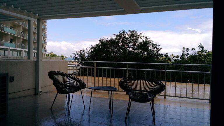 ホテルの部屋から見える景色